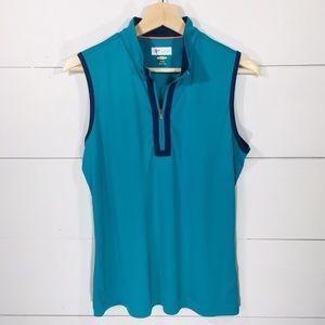 GREG NORMAN Play Dry Sleeveless Polo Golf Shirt M